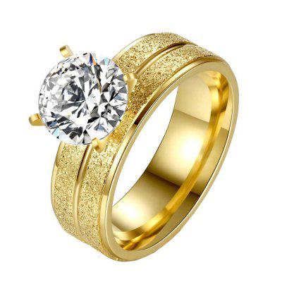 Fashionable Golden Zircon Ring