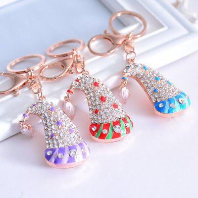 Beautiful Boutique Pendant Christmas Cap Key RingKey Chains<br>Beautiful Boutique Pendant Christmas Cap Key Ring<br><br>Design Style: Fashion<br>Gender: For Women,Girls<br>Materials: Metal<br>Package Contents: 1 x Key Ring<br>Package size: 12.00 x 4.00 x 2.00 cm / 4.72 x 1.57 x 0.79 inches<br>Package weight: 0.0400 kg<br>Product size: 11.00 x 3.00 x 1.70 cm / 4.33 x 1.18 x 0.67 inches<br>Product weight: 0.0380 kg<br>Stem From: Europe and America<br>Theme: Other