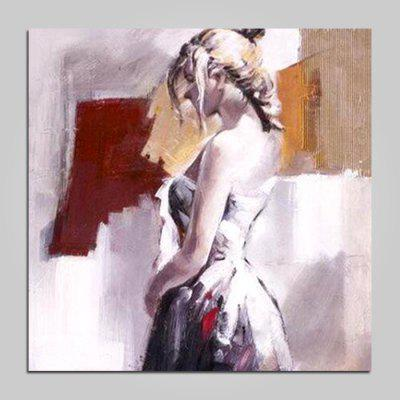 Mintura Canvas Oil Painting Beautiful Girl Hanging Wall Art