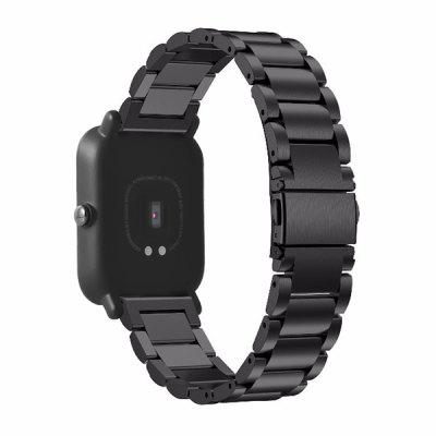 Buy BLACK 20mm Wristband for Xiaomi Huami Amazfit Smartwatch for $8.53 in GearBest store