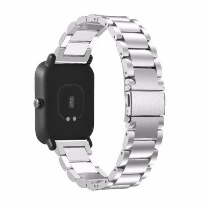 Buy SILVER 20mm Wristband for Xiaomi Huami Amazfit Smartwatch for $7.20 in GearBest store