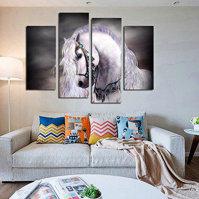 God Painting White Horse Stretched Canvas Print 4PCSPrints<br>God Painting White Horse Stretched Canvas Print 4PCS<br><br>Brand: God Painting<br>Craft: Print<br>Form: Four Panels<br>Material: Canvas<br>Package Contents: 4 x Print<br>Package size (L x W x H): 42.00 x 6.00 x 6.00 cm / 16.54 x 2.36 x 2.36 inches<br>Package weight: 0.3800 kg<br>Painting: Without Inner Frame<br>Product weight: 0.3400 kg<br>Shape: Vertical<br>Style: Modern<br>Subjects: Animal<br>Suitable Space: Bedroom,Living Room