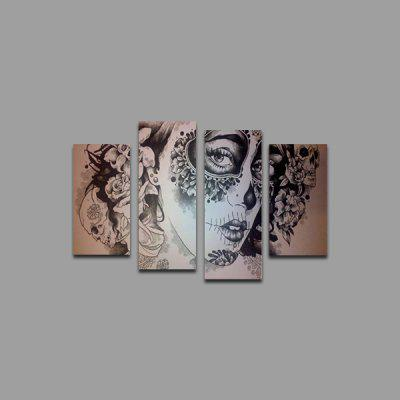 Buy COLORMIX God Painting Canvas Prints Girl Face Home Decoration Ready to Hang 4PCS for $10.61 in GearBest store