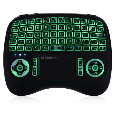 Alfawise KP - 810 - 21T - RGB Mini 2.4G Wireless KeyboardAir Mouse<br>Alfawise KP - 810 - 21T - RGB Mini 2.4G Wireless Keyboard<br><br>Battery Capacity (mAh): 800mAh<br>Brand: Alfawise<br>Charging Time: 2 hours<br>Connection Type: 2.4GHz Wireless<br>Interface: No<br>Model: KP - 810 - 21T - RGB<br>Package size: 16.00 x 11.20 x 4.00 cm / 6.3 x 4.41 x 1.57 inches<br>Package weight: 0.1870 kg<br>Packing List: 1 x Alfawise KP - 810 - 21T - RGB Mouse, 1 x USB Receiver<br>Powered by: Lithium-ion Battery<br>Product Features: Air Mouse, Ergonomic, Gaming<br>Product size: 13.50 x 10.00 x 3.00 cm / 5.31 x 3.94 x 1.18 inches<br>Product weight: 0.1100 kg<br>Suitable for: Android TV, Andriod TV Box, Google TV Box<br>Supports System: Win8 64, Win8 32, Win7 64, Win7 32, Win XP, Win 2008, Linux, IOS, Android 2.x, Win 2000