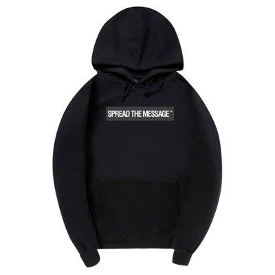 HZIJUE Male Casual Loose Letter Printing Hoodie