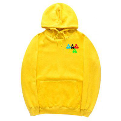 HZIJUE Cotton Loose Letter Printing Hoodie for Men