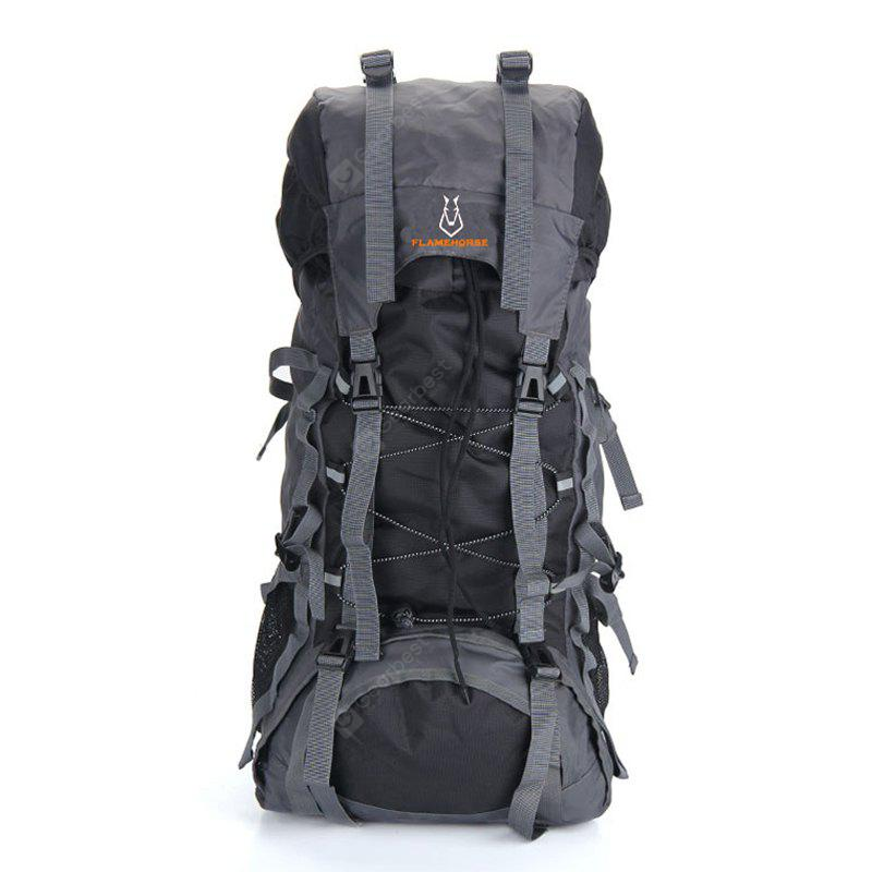 BLACK Outdoor Large Capacity Water-resistant Travel Backpack