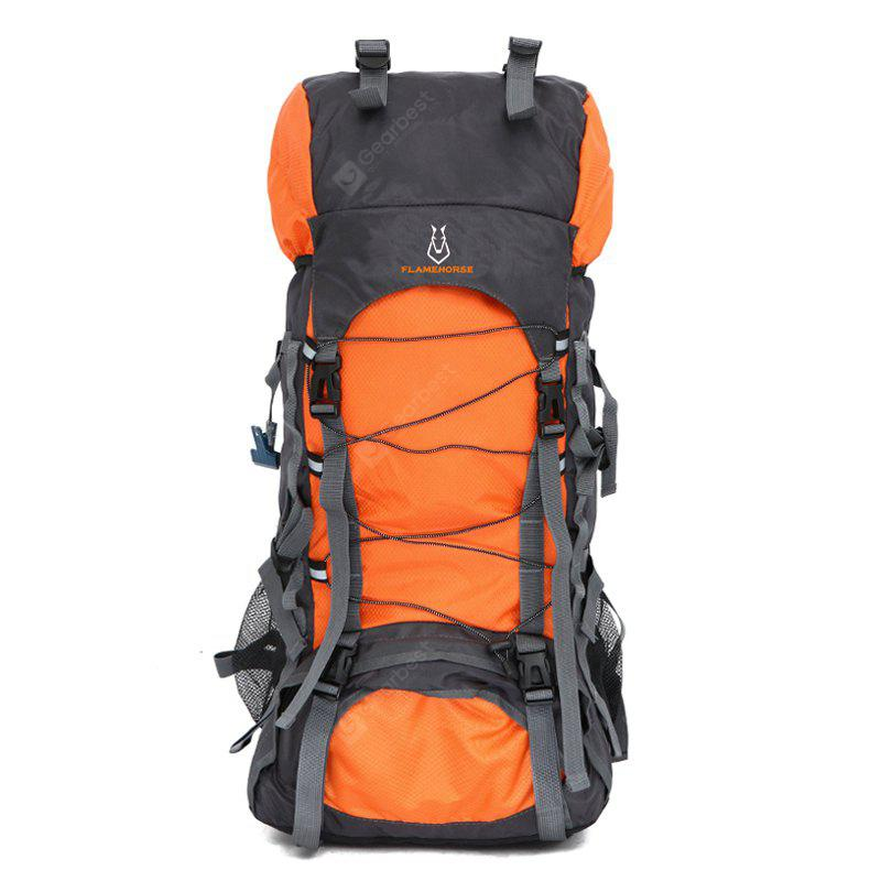 ORANGE YELLOW Outdoor Large Capacity Water-resistant Travel Backpack