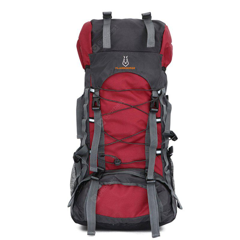 RED Outdoor Large Capacity Water-resistant Travel Backpack