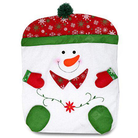 Adorable Christmas Snowman Pattern Nonwoven Chair Cover
