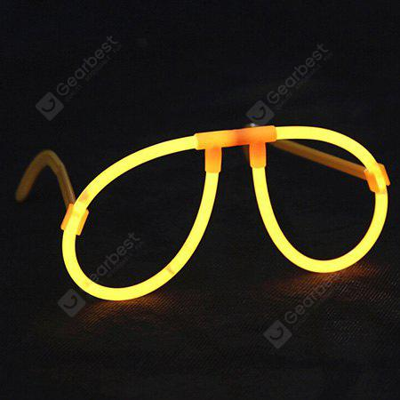 Kids Decorative Luminous Fluorescence Eyeglass Frame 2pcs