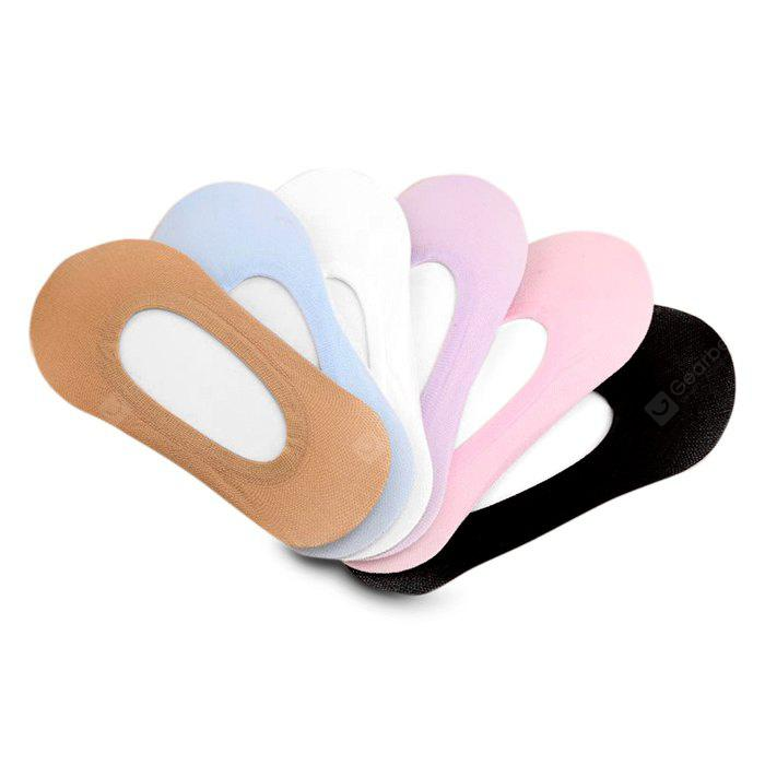 COLORMIX 6 Paired Female Candy Color Anti Slid Ankle Socks