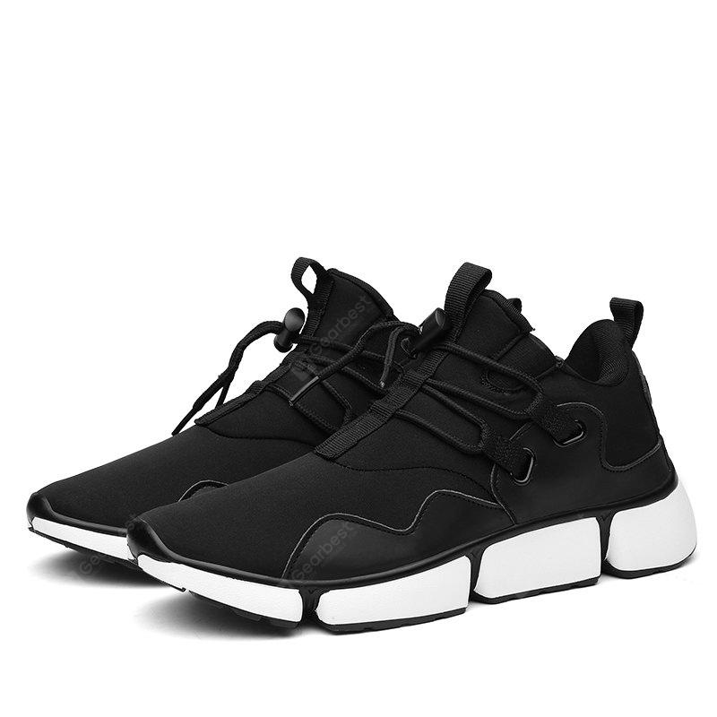 Male Unique Soft Breathable Lightweight Sports Sneakers BLACK