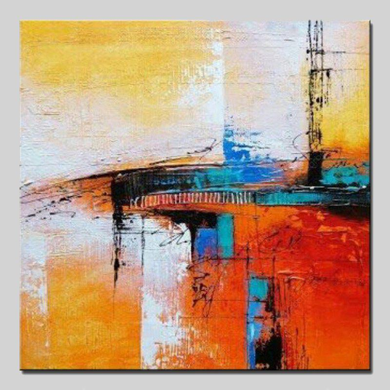 Mintura Canvas Oil Painting Abstract Square Hanging Wall Art
