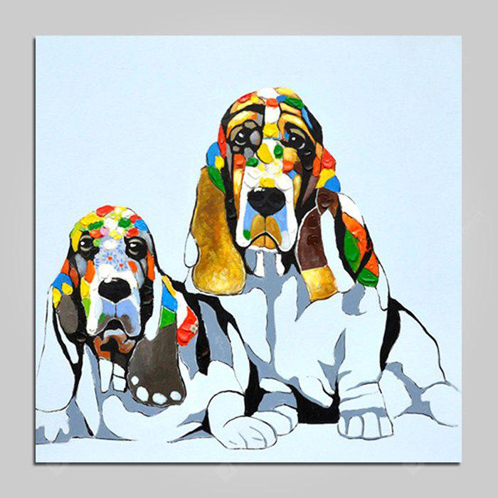 Mintura Modern Canvas Oil Painting Dogs Hanging Wall Art