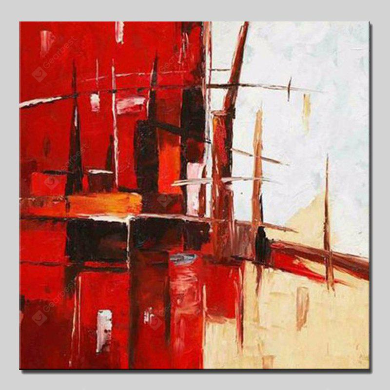 Mintura Square Oil Painting Abstract Hanging Wall Art