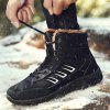 Male Warmest Thicken Soft Non-slip High Padded Boots - BLACK