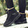 Male Versatile Soft Outdoor Water-resistant High-top Boots - BLACK