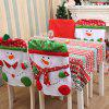 Adorable Christmas Snowman Pattern Nonwoven Chair Cover - COLORMIX