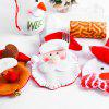 Christmas Decorative Tableware Knife Fork Set Cover - RED WITH WHITE