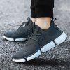 Male Unique Soft Breathable Lightweight Sports Sneakers - GRAY