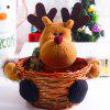 Decorative Gifts Storage Basket for Christmas - COFFEE