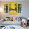 God Painting Modern Print Gold Leaves Wall Decor 4PCS - COLORMIX