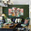 God Painting Sheep Horn Printed Painting Canvas Print 4PCS - COLORMIX