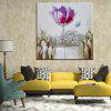 Mintura Square Oil Painting Flower Canvas Hanging Wall Art - COLORMIX
