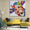 Mintura Hanging Oil Painting Canvas Cattle Square Wall Art - COLORMIX