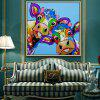 Mintura Hanging Oil Painting Modern Canvas Cattle Wall Art - COLORMIX