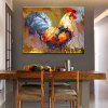 Mintura Hanging Oil Painting Modern Canvas Cock Wall Art - COLORMIX