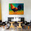 Mintura Modern Canvas Oil Painting Hanging Cock Wall Art - COLORMIX