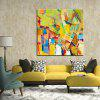 Mintura Square Oil Painting Abstract Style Canvas Wall Art - COLORMIX
