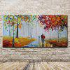 Mintura Canvas Oil Painting Unframed Wet Road Wall Art - COLORMIX