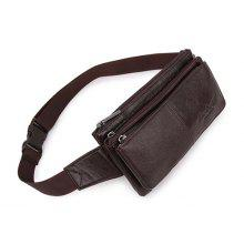 Men Vintage Genuine Leather Waist Bag
