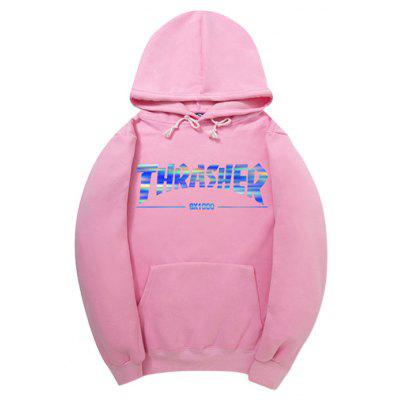 Buy PINK 2XL HZIJUE Letters Printing Hoodie for $23.49 in GearBest store
