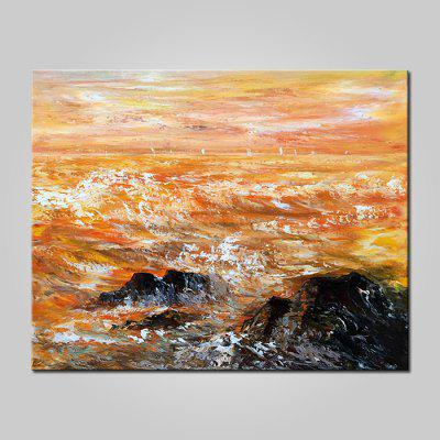 Mintura Canvas Oil Painting Abstract Landscape Wall Art