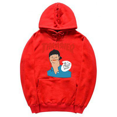 Buy RED M HZIJUE Men Printing Hoodie Sweatshirt for $23.49 in GearBest store