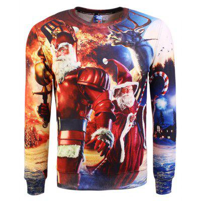 Male Creative Santa Printed Sweatshirts