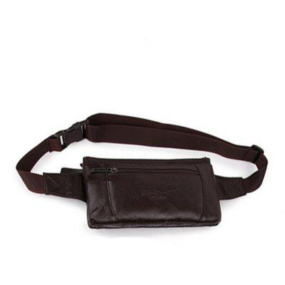 Men Stylish Mini Genuine Leather Waist Bag