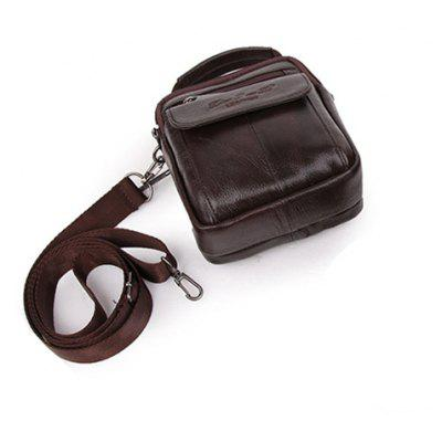 Men Multifunctional Genuine Leather Shoulder Bag