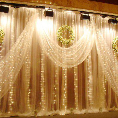 3M x 3M 8-modes 304pcs-Lights String Warm White Decorative Light