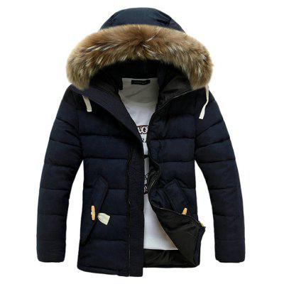 Buy DEEP BLUE L Warm Fashion Hooded Winter Jacket for $47.15 in GearBest store