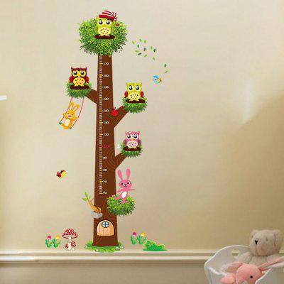 Cartoon Owls Height Wall Sticker for Kids Room 2pcs