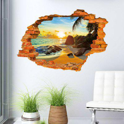 3D Beach Scene Mural Decal Wall Sticker