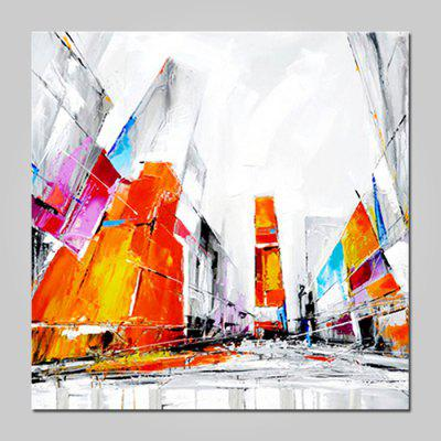 Mintura MT160842 Modern Abstract City Streets Canvas Oil Painting