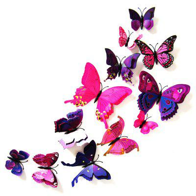 3D Creative Decal DIY Butterflies Wall Sticker 12pcs