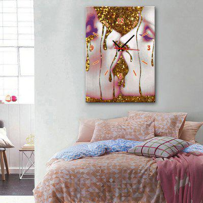 E - HOME Framed Abstract Canvas Decorative Mural Wall Clock