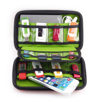 Portable Storage Bag Digital Products Accessories OrganizerStorage Bags<br>Portable Storage Bag Digital Products Accessories Organizer<br><br>Functions: Home, Travel<br>Materials: PU<br>Package Contents: 1 x Storage Bag<br>Package Size(L x W x H): 18.00 x 10.50 x 4.20 cm / 7.09 x 4.13 x 1.65 inches<br>Package weight: 0.1250 kg<br>Product Size(L x W x H): 17.50 x 10.00 x 4.00 cm / 6.89 x 3.94 x 1.57 inches<br>Product weight: 0.1240 kg<br>Types: Storage Bags